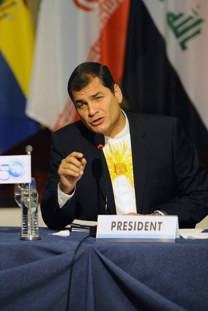 Correa incluso señaló a su rival político Lucio Gutiérrez de estar detrá...
