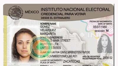Modelo INE credencial