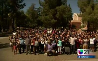 Protesta contra la brutalidad policiaca en Fresno