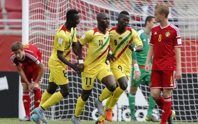 Mali celebra ante Bélgica en la semifinal