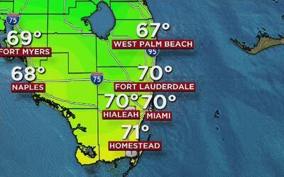 Cielo parcialmente nublado y posibilidad de lloviznas este jueves en Miami
