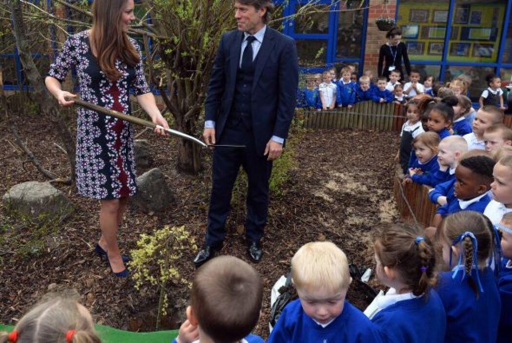 Pero sí es la primera vez que la princesa de Cambridge sí se deja ver si...
