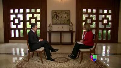 Enrique Peña Nieto explicó a María Elena Salinas la estrategia contra el...