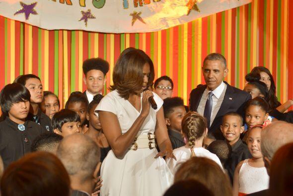 Fue una tarde divertida para Obama, Michelle y decenas de niños.