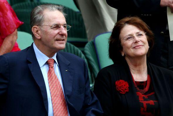 Uno de los espectadores destacados fue Jacques Rogge, presidente del Com...
