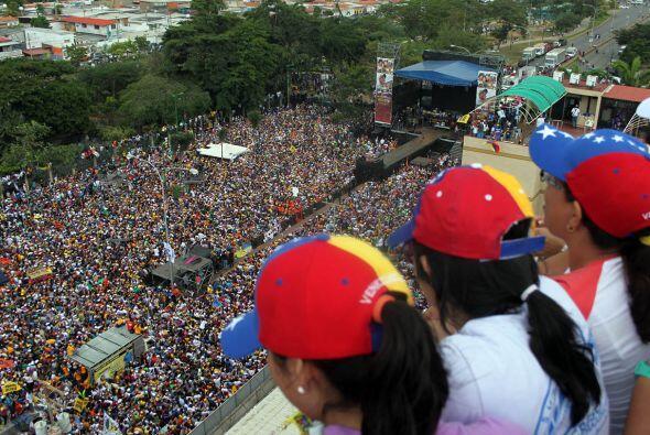 El cierre de campaña de Henrique Capriles en Barcelona, estado de...