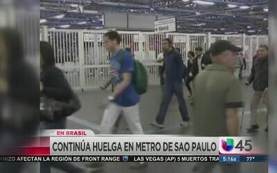 Continúa la huelga en el metro de Sao Paulo