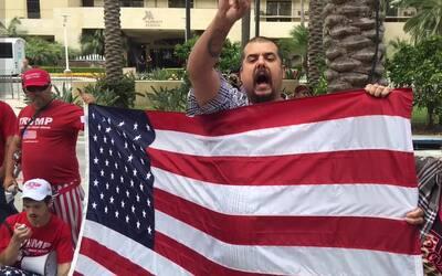 La bandera que reconcilió a grupos pro y anti-Trump