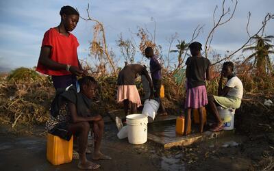 Haití enfrenta crisis humanitaria causada por la destrucción que dejó el...