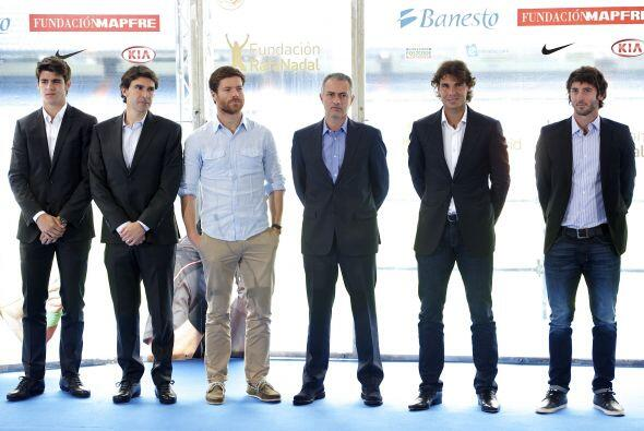 Florentino Pérez y Nadal coincidieron al felicitar a los técnicos del eq...