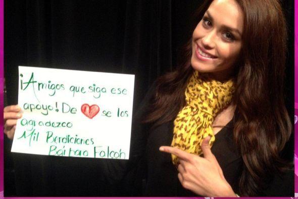 La mexicana Bárbara Falcón fue la participante con menos apoyo del públi...