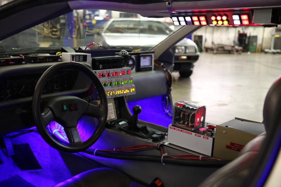 Réplica de auto de Volver al Futuro