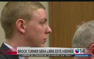 Brock Turner saldrá de prisión
