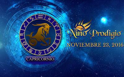 Niño Prodigio – Capricornio 23 de Noviembre, 2016