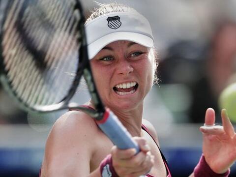 La rusa Vera Zvonareva se enfrentó en la final del torneo de Toky...