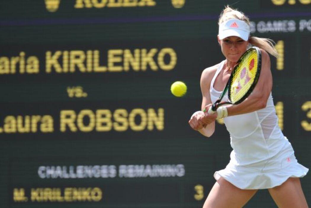 No fue el día de la décima favorita, la rusa María Kirilenko, fue elimin...