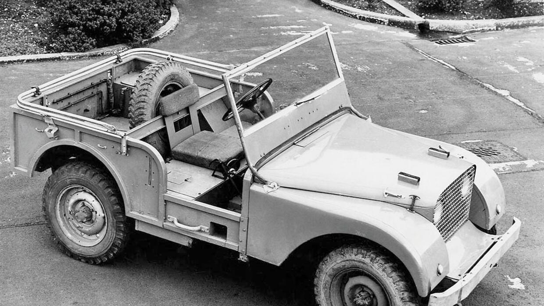 Prototipo Land Rover construido sobre un chasis de Jeep Willys
