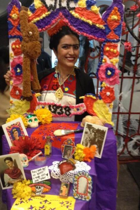 Martha Soto fue la ganadora del concurso de disfraces, quien se vistió d...