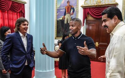 Jaime Foxx hizo movimientos graciosos durante alocución de Nicolás Madur...