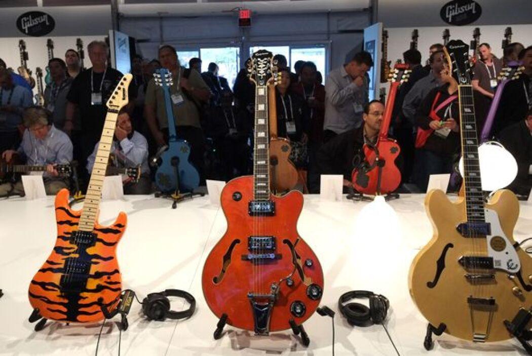 Incluso la veterana marca de guitarras Gibson estuvo presente en el CES: