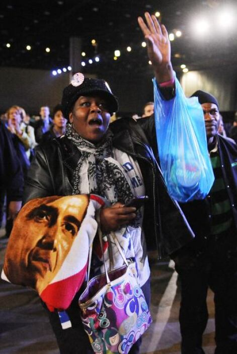 Júbilo en Chicago por la re elección de Obama
