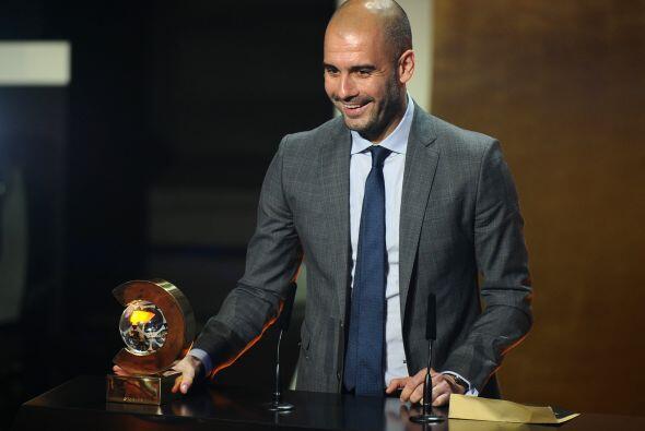 Josep Guardiola se llevó el premio como entrenador del 2011.