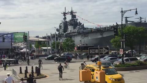 En medio de fuertes medidas de seguridad se dio inicio a la Semana Naval...