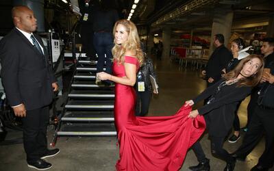 Backstage pass en Premio Lo Nuestro 2017