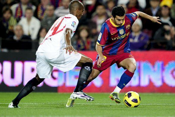 El Barcelona recibio en el 'Camp Nou' al Sevilla, que parecía ser un riv...