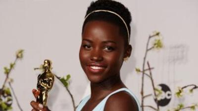 La actriz de Kenia nacida en México,Lupita Nyong'o.
