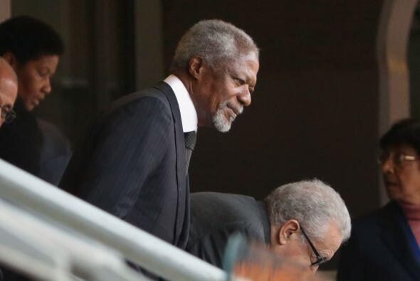 El exsecretario general de la ONU, Kofi Annan, se vio siempre con su car...