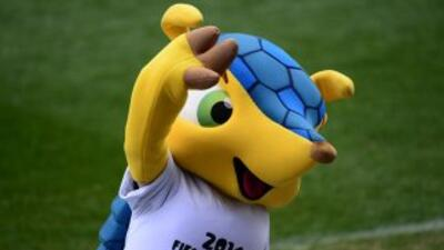 Fuleco, la mascota del Muncial Fifa Brasil 2014.