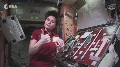 Hasta en el espacio se puede comer un buen taco