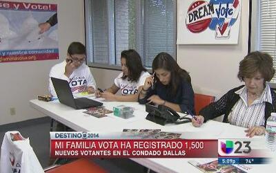1,500 nuevos votantes en Dallas