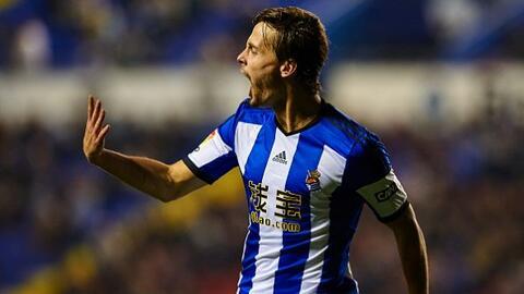 El delantero español había adelantado a la Real en la primera mitad.