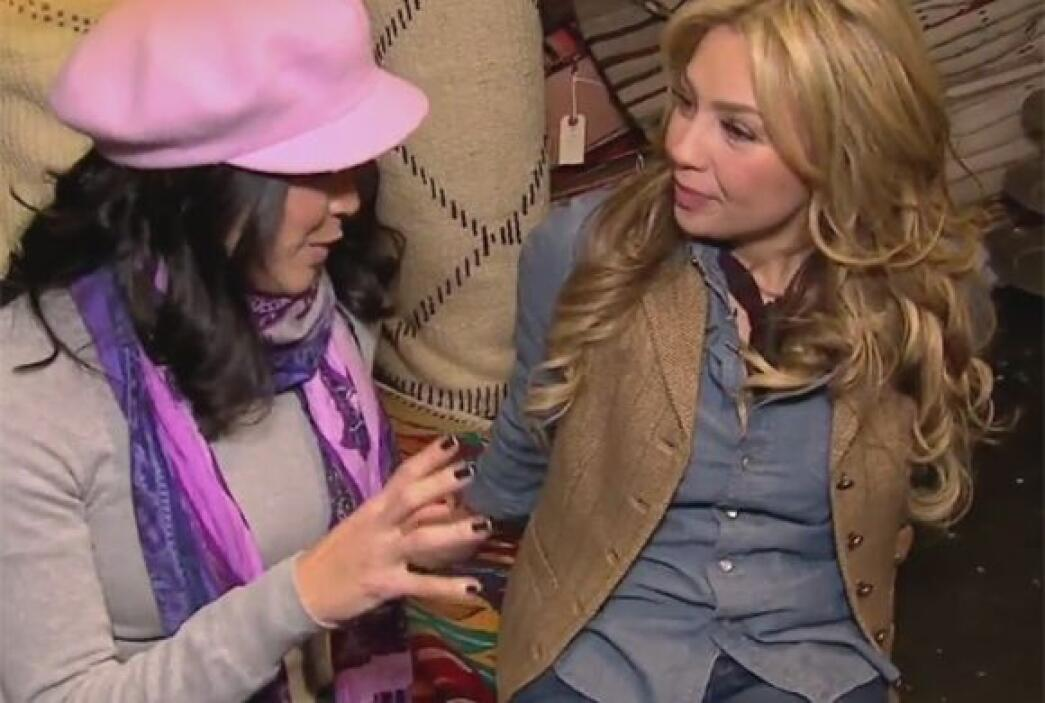 Thalía le confesó a Karla que viaja mucho a México pero que no lo anda a...