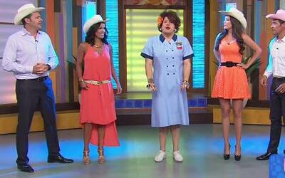 Doña Meche dio lecciones de baile de varios géneros en Despierta América