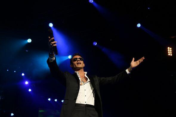 Fotografías tomadas durante el concierto de Marc Anthony, efectua...