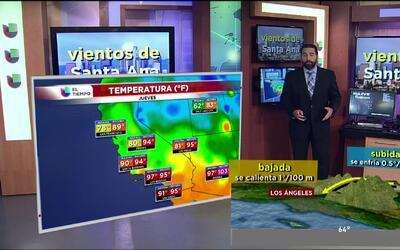 El tiempo: vientos de Santa Ana y Oriónidas