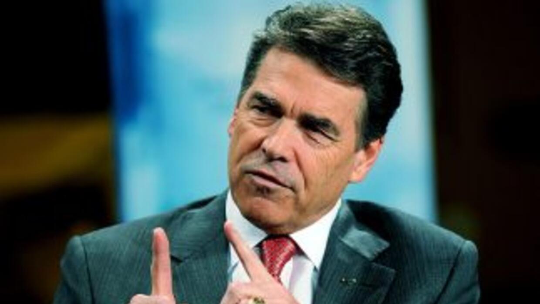 Rick Perry, gobernador de Texas y aspirante a la nominación republicana...