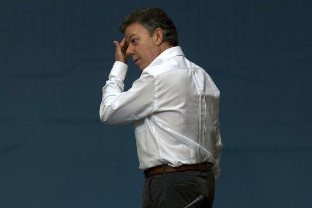 JUAN MANUEL SANTOS. El presidente de Colombia, Juan Manuel Santos encabe...