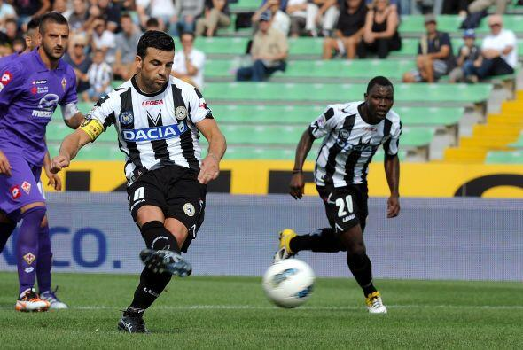 El cuadro de Udine se adelantó con un gol de Antonio Di Natale.