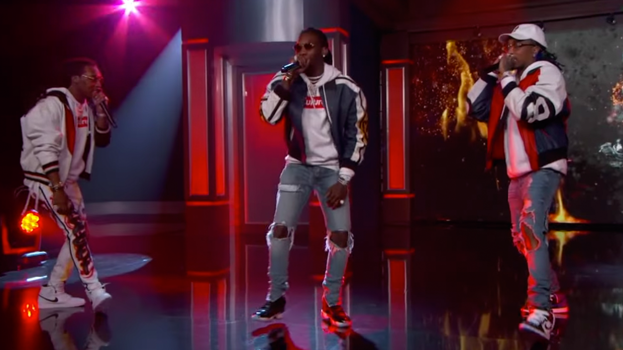 Migos Perform On Jimmy Kimmel Live