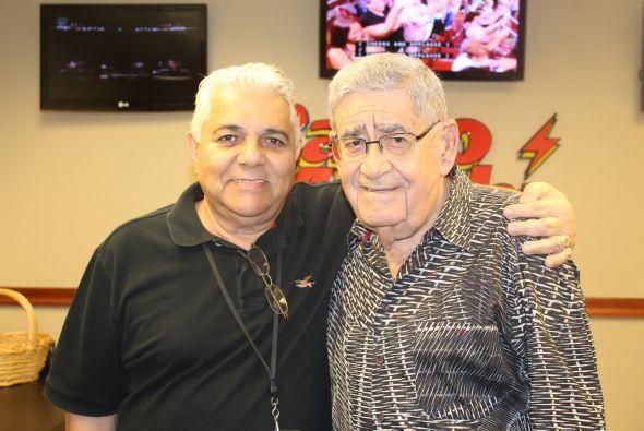 Felo Ramirez con Luis Guillermes, editor de las emisoras de Univision Ra...