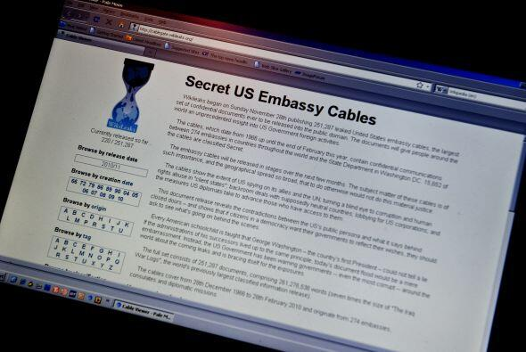 El sitio web WikiLeaks difundió cerca de 250,000 comunicaciones secretas...