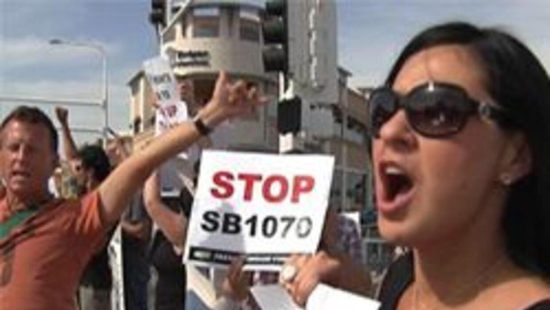 Protestantes de la ley sb1070