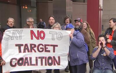 'Chicago en un Minuto': protestan en el centro de la ciudad por construc...