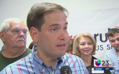 Marco Rubio inauguró una oficina de campaña en Miami