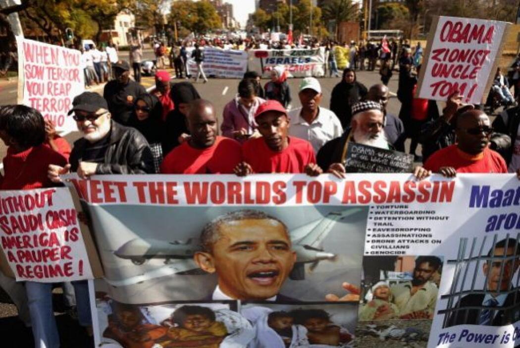 Barack Obama se reunirá mañana con su homólogo sudafricano Jacob Zuma pa...