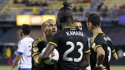 Kei Kamara y Federico Higuaín discutieron por un penal.